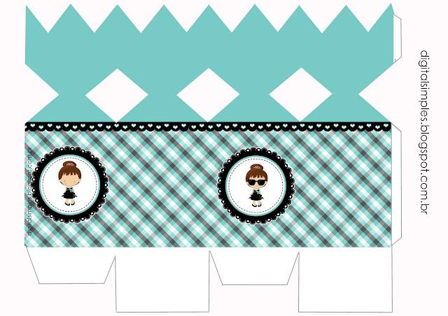 Desayuno con Diamantes Bebé: Cajas para Imprimir Gratis.