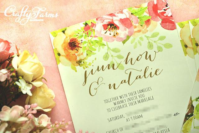 Secret Garden Wedding Invitation Cards, Kad Kahwin Floral