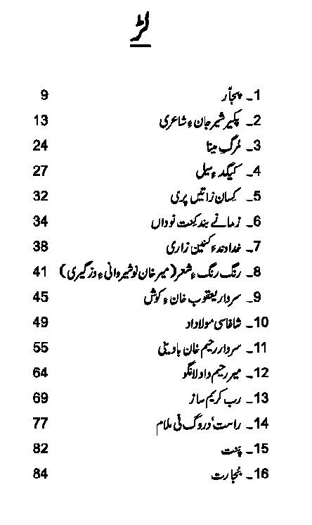 Murq e Mena Kalam e Fakeer Sher Jan Baluchi