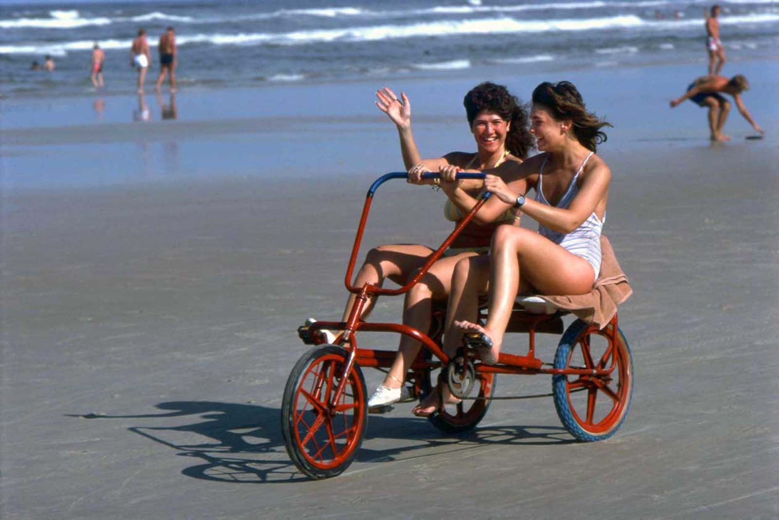 A tricycle made for two at Daytona. 1983.