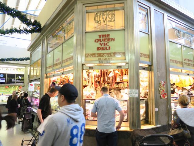 the queen vic deli shop front, queen victoria market, Melbourne, Australia