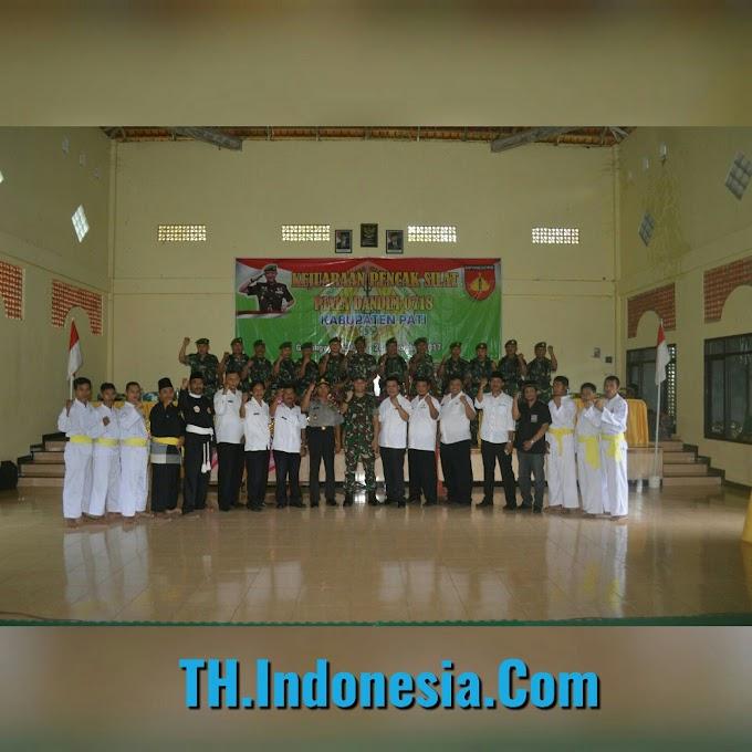 Letkol Arm Arief Darmawan S.Sos Membuka Kejuaraan Pencaksilat Piala Dandim  Cup 2017