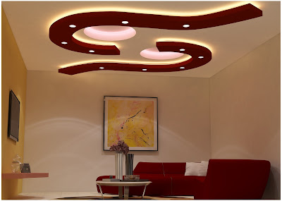 POP design - false ceiling designs for living room
