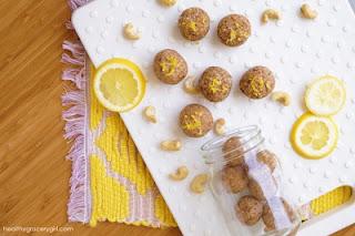 No-Bake Cashew Lemon Cookie Bites