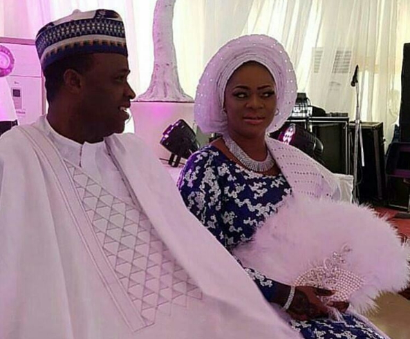 Image result for Femi Adebayo And Wife At The Naming Of Their Son