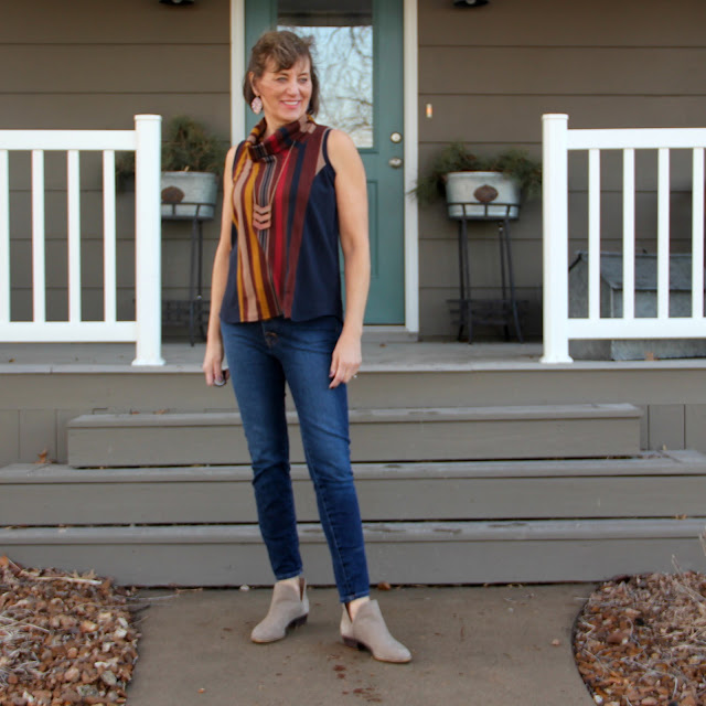 Taos top by Thread Bear Garments made with Mood Fabrics