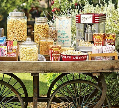 retro popcorn buffet