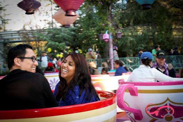 Disneyland Engagement Shoot - Tea Cups