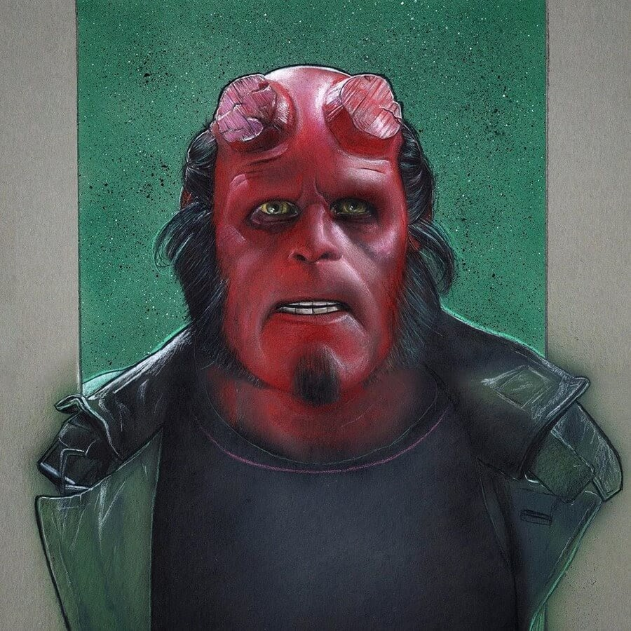 06-Hellboy-Chris-Pencil-Drawings-www-designstack-co