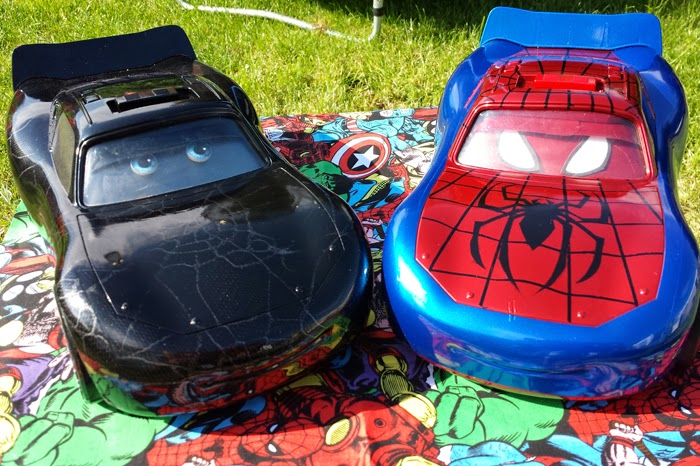 Custom made Pixar Lightening McQueen cars Spiderman