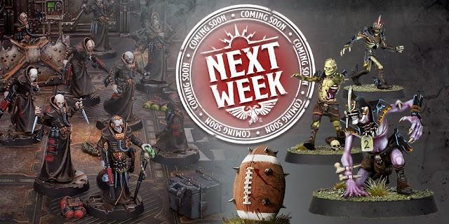 Adeptus Titanicus, Bloodbowl, Necromunda, and Army Sets Coming Next Week