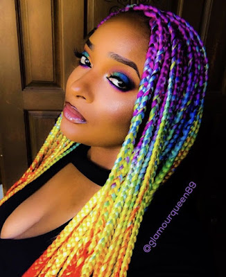 Trenzas AFRICANAS de colores JUVENILES de moda super lindas