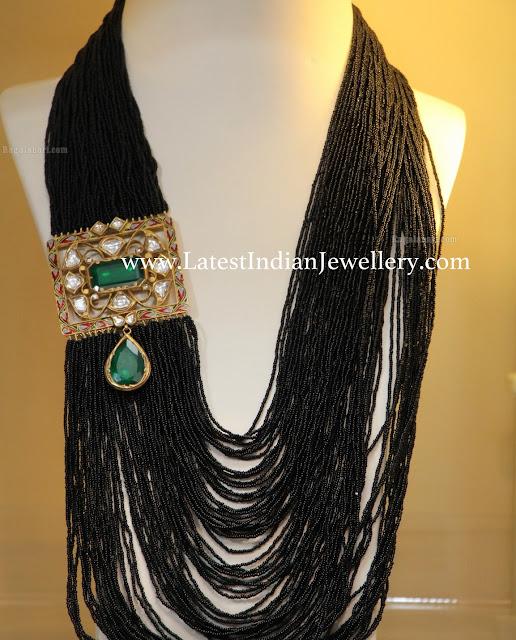 Multistring Black Beads Mala