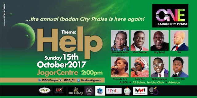 Ibadan City Praise 2017 Featuring Chris Delvan, Bola Are, Big Bolaji, Babatunmise, Yetunde Are, Tosin Bee & Many More