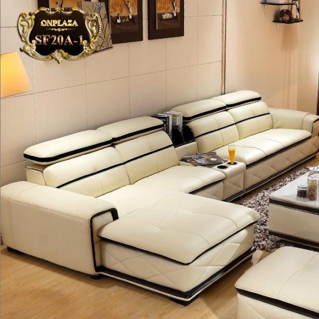 Bộ ghế sofa bọc da đẹp cho phòng khách SF20 ;giá :28.912.000 vnđ
