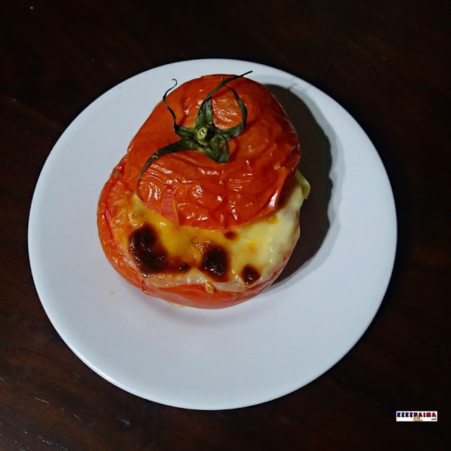 resep baked tomato with mozarella cheese