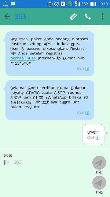 Cara Mendaftar Dan Memperoleh Kuota Bulanan Loyalty 57GB IM3 Mentari Gratis Dari Indosat