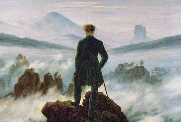 """""""Viandante sul mare di nebbia"""" Caspar David Friedrich (1744-1810)"""