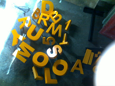 Huruf timbul | Letter Timbul Murah Jakarta