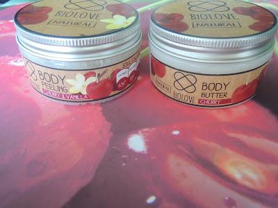 Wiśniowe szaleństwo z Biolove-masło i peeling do ciała