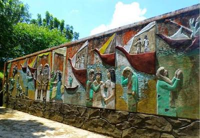 Pagat Batu, Benawa, Lukisan dinding di Pagat Batu Benawa Barabai