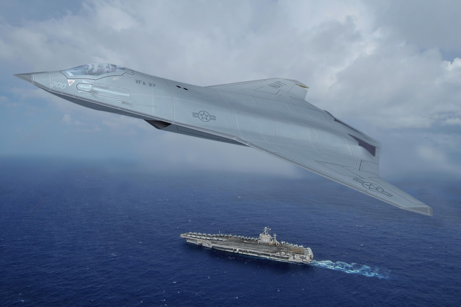 Next generation US Navy manned and unmanned fighters will have new stealth smart sensor skins