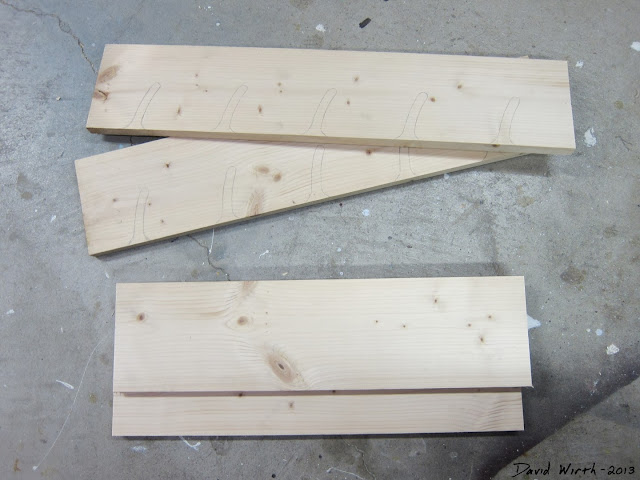 wood needed to build a wall shelf ribbon rack