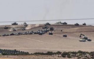 مناورات عسكرية للجيش التركي على حدود تركيا  مع العراق