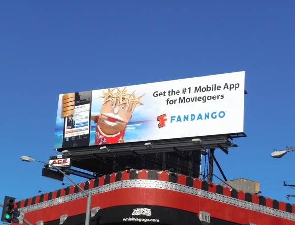 mobile app for Moviegoers Fandango billboard