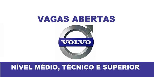Novas vagas de trabalho são divulgadas pelo Conjunto Volvo