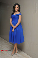 Actress Ritu Varma Pos in Blue Short Dress at Keshava Telugu Movie Audio Launch .COM 0082.jpg
