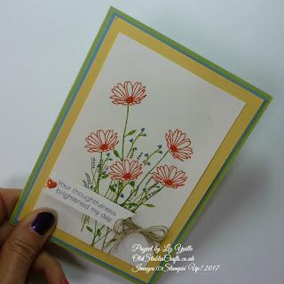 Daisy Delight Bouquet Card using Subtles Colour Family
