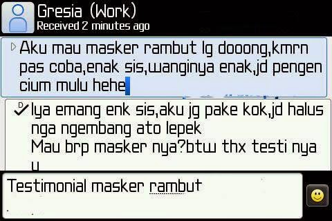 Testimoni Masker Rambut Emas 24K Hair Mask