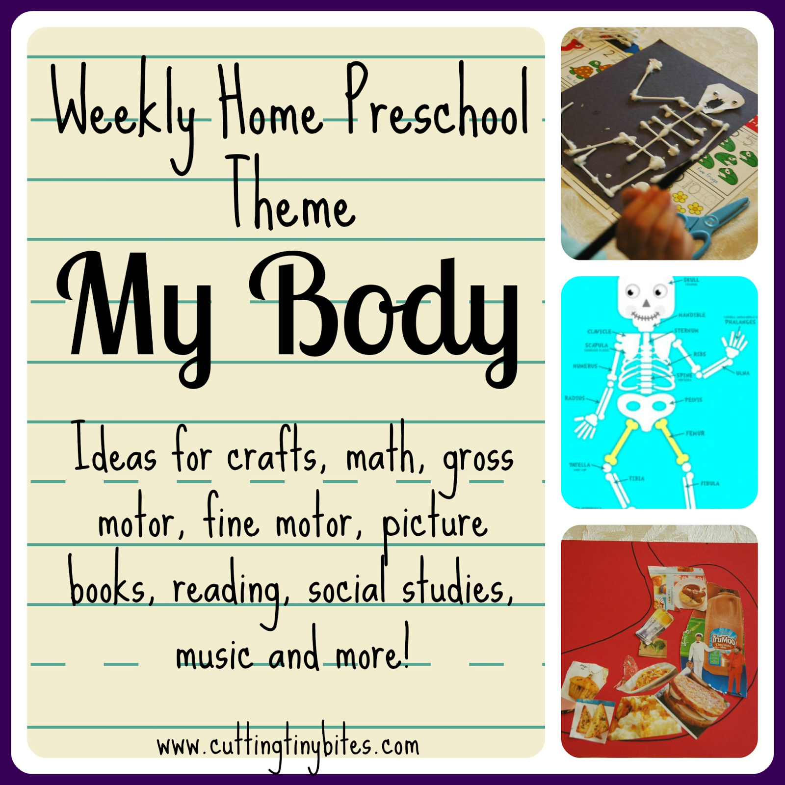 Weekly Home Preschool Theme My Body
