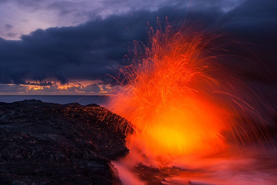 Lava Morning Fountains