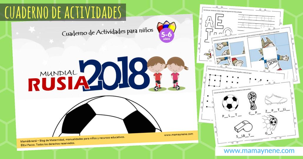 Cuaderno de Actividades para niños y niñas MUNDIAL RUSIA 2018