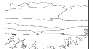 lake scene coloring pages - photo#5