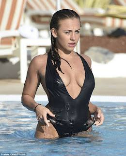 Ashleigh Defty busty low cut wet swimsuit in Tenerife - Sexy Cleavages Hot ass lovely Boobs Nipple Pokie