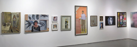 SELF Portrait Prize 2013 - East Wall, Threadneedle Space, Mall Galleries
