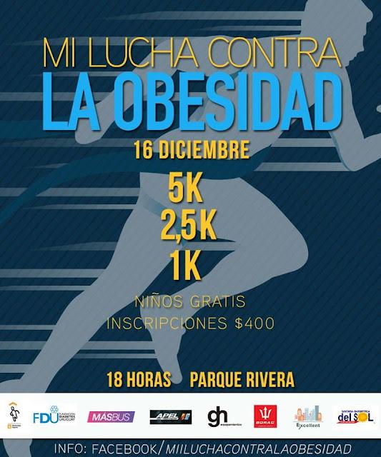 5k Mi lucha contra la obesidad (parque Rivera - Montevideo, 16/dic/2017)