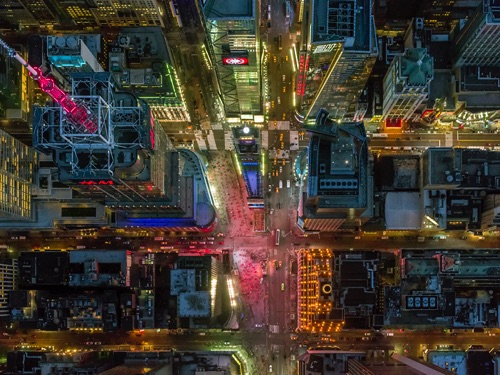 photo by Jeffrey Milstein - NYC | chidas fotos cool stuff - aerial vision of NYC