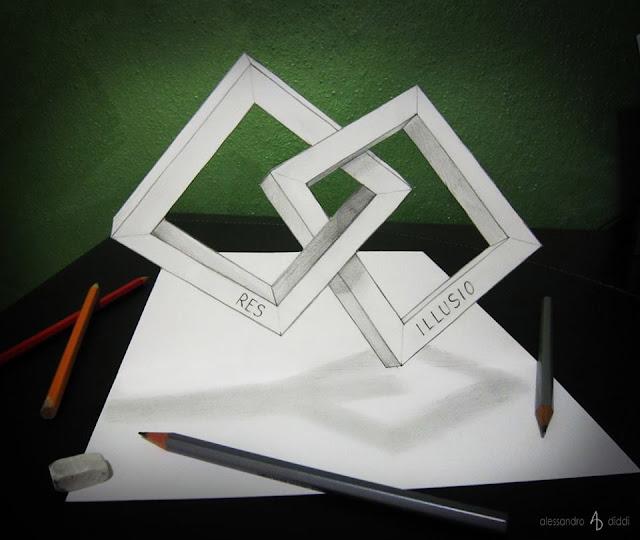 ilusi gambar 3d yang keren dan menakjubkan serta kreatif-9