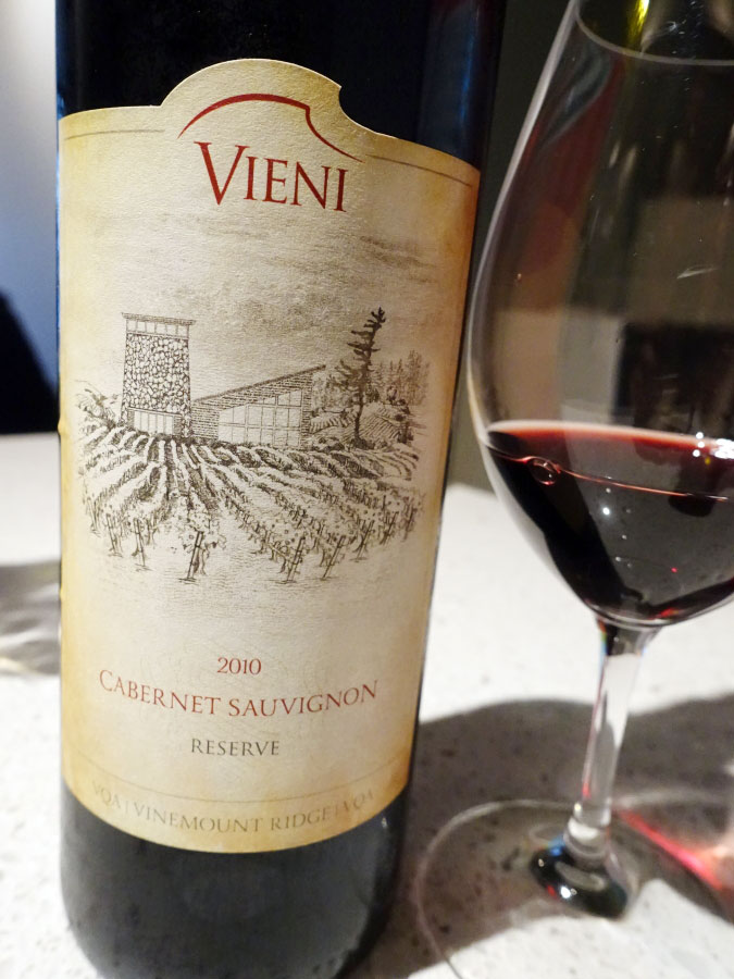 Vieni Reserve Cabernet Sauvignon 2010 (88 pts)