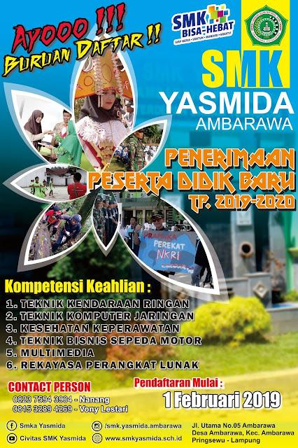 Desain Banner Sosialisasi PPDB SMK Yasmida Ambarawa Simple