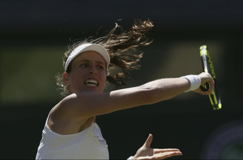 Johanna Konta reaches 3rd round at Wimbledon for 1st time, beating Donna Vekic 7-6 (4), 4-6, 10-8