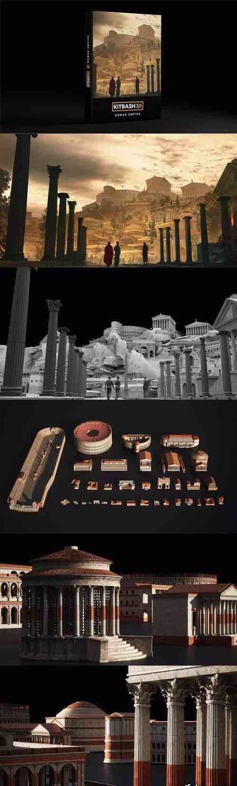 موديل ثري دي للامبراطورية الرومانية | MA - .MAX - .OBJ - .FBX.