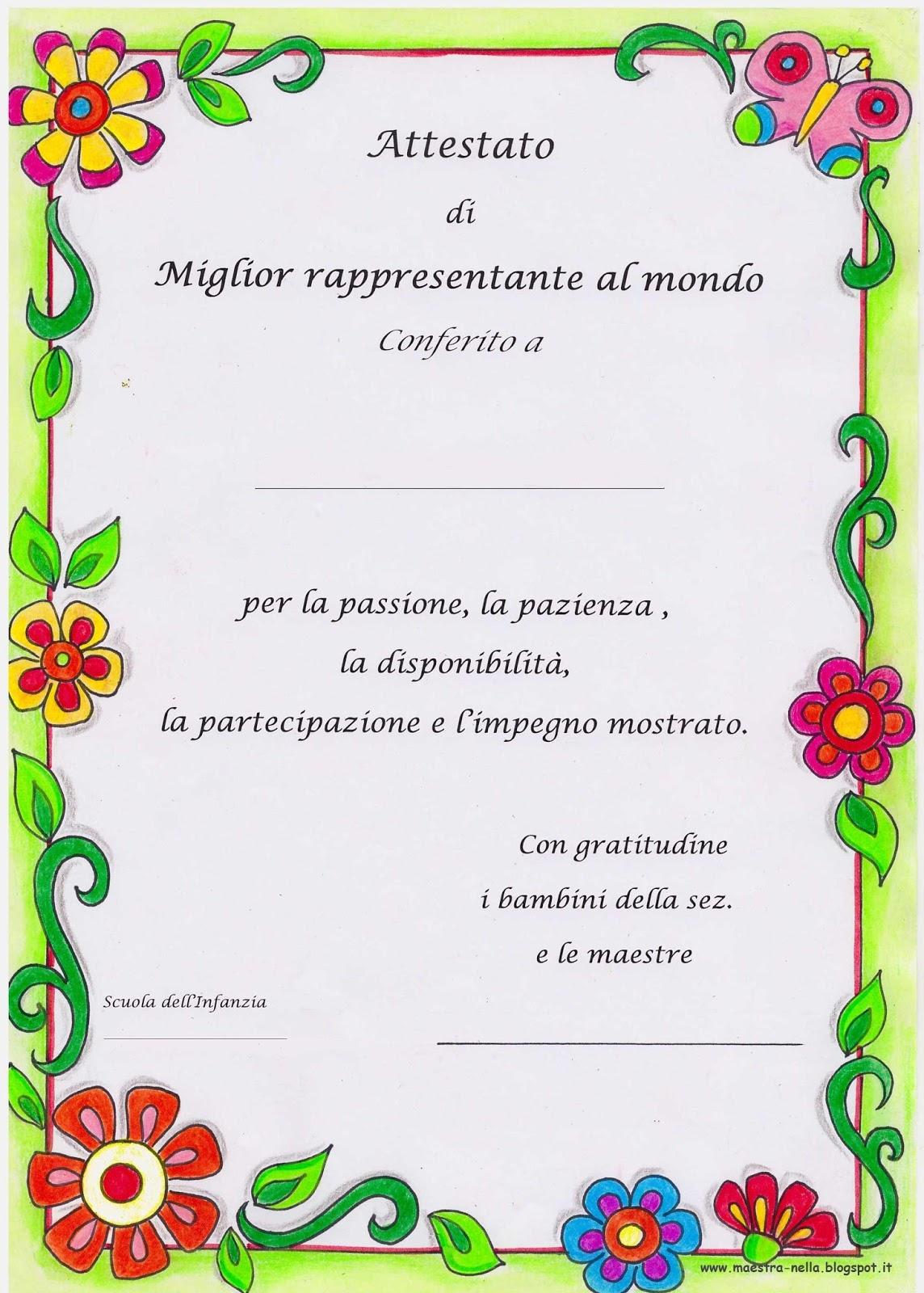 Diplomi Per Bambini Da Stampare Stampae Colorare