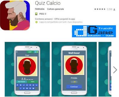 Soluzioni Quiz Calcio | Tutti i livelli risolti con screenshot soluzione