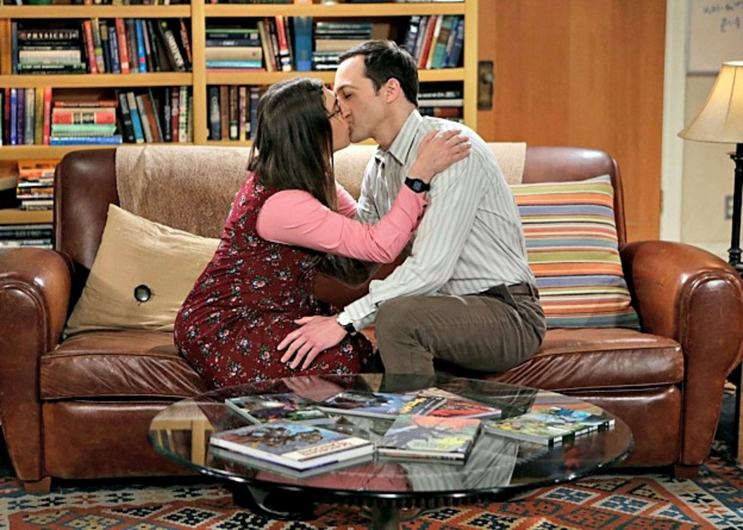 Sheldon y Amy se besan en 'The Big Bang Theory'