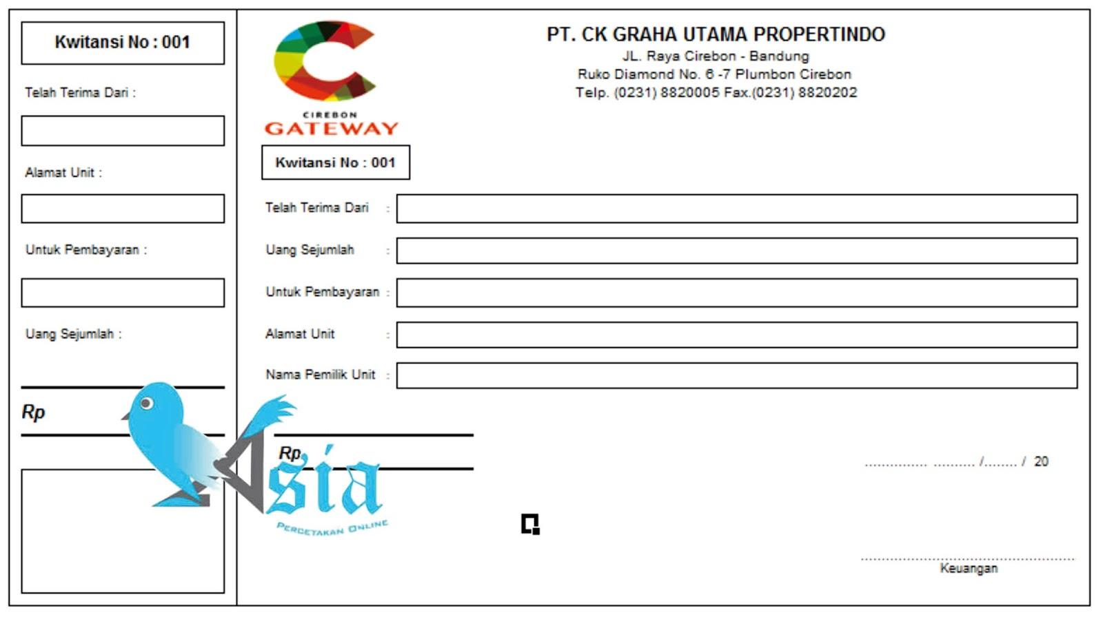 Contoh Desain Kwitansi Nota Gateway Cetak Nota Jakarta